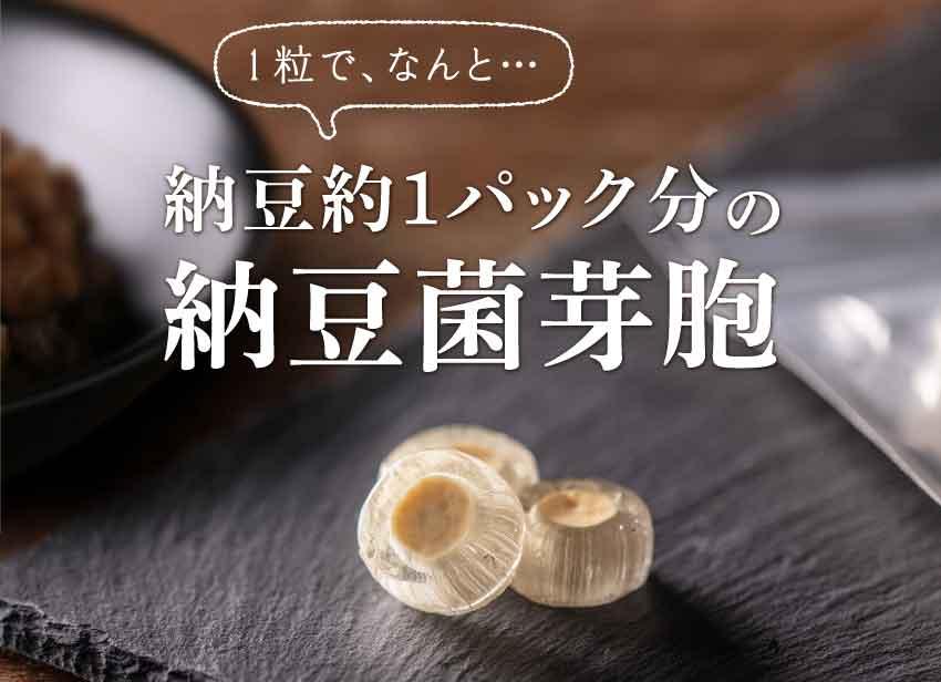 1粒でなんと1パック分の納豆菌芽胞